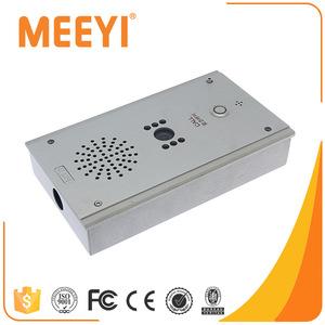 IP Audio Video Intercom System Elevator Emergency Phone Panic Button For Bank
