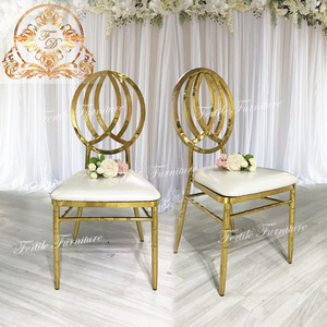 top grade  leather seat event royal gold wedding chairs for sale
