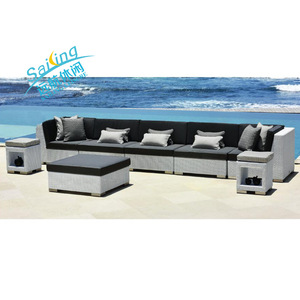 All Weather Garden Rattan Furniture Wicker Outdoor Sofa