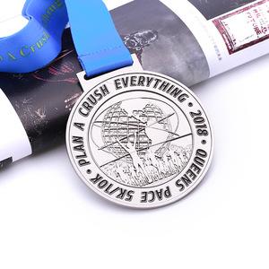 DIY words high quality souvenir  medal metal with ribbon drape