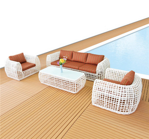 Foshan New design Modern Outdoor Rattan Wicker Sofa Leisure Garden Furniture Sets