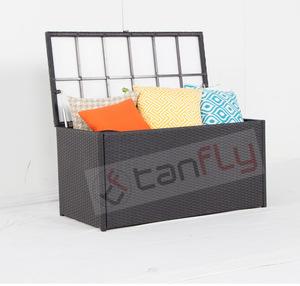 Garden Wicker Furniture Waterproof Outdoor Cushion Storage Box