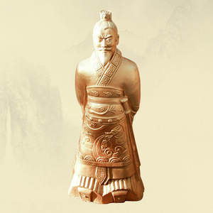 Meilun Blue Stone Color Life Size Terracotta Warrior Statue Home Decoration Qin Dynasty Terra Cotta