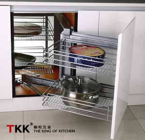 Tkk Cabinet Magic Corner Kitchen Fittings Storage Kitchen Basket
