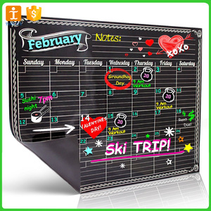 Black Magnetic Chalkboard Dry Erase Weekly and Monthly Planner pictures & photos