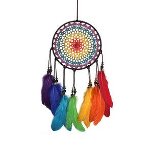 Meilun handwork colorful crochet hanging dreamcatcher feather decorations pictures & photos