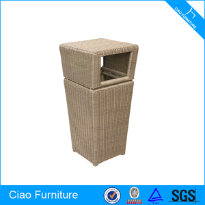 House holding Garden Cleaning Rattan Waste Bin
