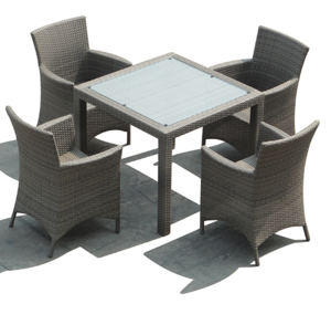 TF-9599 Hot sale Leisure rattan restaurant dining round table chairs set