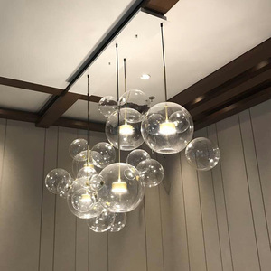 Modern Lights Glass Chandelier Suspension Hanging Pendant Lighting Lamp