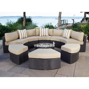 Garden Furniture Outdoor Outdoor Rattan Patio Furniture Aluminium Frame Sofa Set
