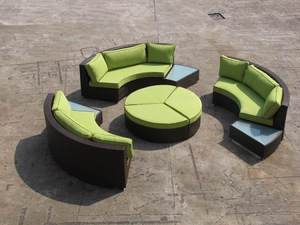 Sectional Sofas Half Moon Rattan Sofas Garden Sofas pictures & photos