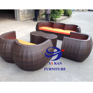 Round Rattan Garden Furniture Sets Garden Furniture Outdoor Sofa Hot Sale Pe Rattan Outdoor Sofa