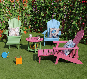 Promotional Outdoor Patio Furniture Various Color Polywood Adirondack Chair