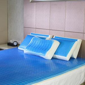 PU Summer bed topper folding gel cooled mattress pad