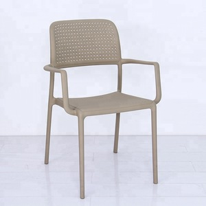 garden outdoor furniture plastic chair with arm