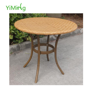 Outdoor rattan table patio wicker imitation bamboo dining table