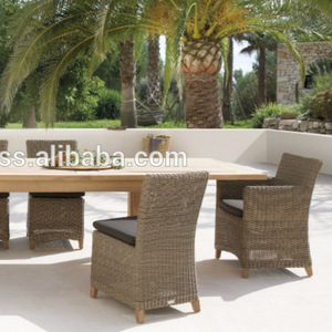 Wicker rattan outdoor wooden dining table set 8 chairs- garden patio outdoor furniture dining table  pictures & photos
