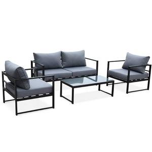 4 Piece Outdoor Furniture Aluminium Modular Garden Sofa Set
