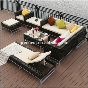 Classic european style wicker sofa outdoor furniture aluminum