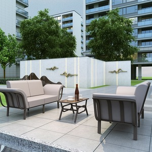 Outdoor Furniture Metal Sofa Set Aluminum Frame Garden Patio Outdoor Furniture Sofa With Cushion