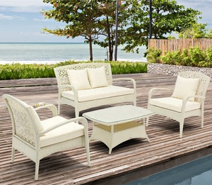 wholesale aluminum frame garden sofa set rattan outdoor furniture with Asian style