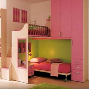 High Gloss Mdf Pink Kids Bedroom Furniture Set With Storage For Girls Wholesale Children Furniture Products On Tradees Com