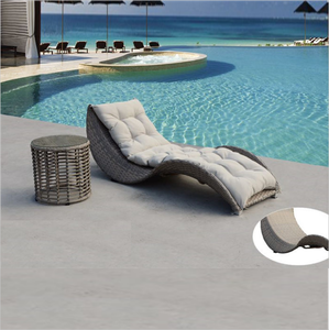 Hot sell Outdoor wicker rattan furniture recliner Hotel resort Swimming pool chaise lounger chair pa