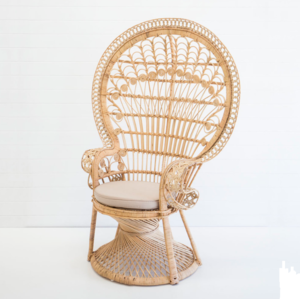 Natural Wicker Rattan Peacock Chair