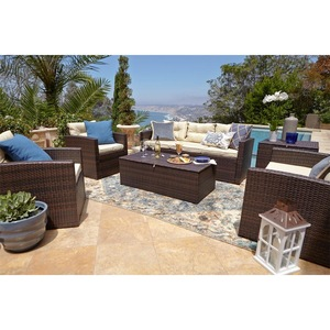 Villa entertaining outside large lounge furniture rattan garden furniture outdoor patio