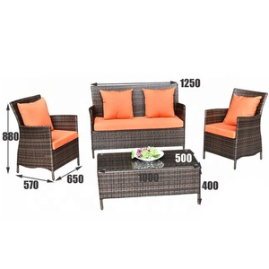 Alibaba modern rattan wicker outdoor indoor living room furniture sofa set designs
