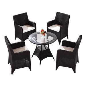 Good quality and price of garden chair steel outdoor furniture dining set