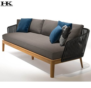 Luxury morden outdoor furniture hotel project teak garden sofa furniture