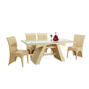 unique design patio dinning set Rattan garden dinner table wicker Dining room set pictures & photos