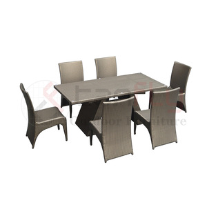 unique design patio dinning set Rattan garden dinner table wicker Dining room set