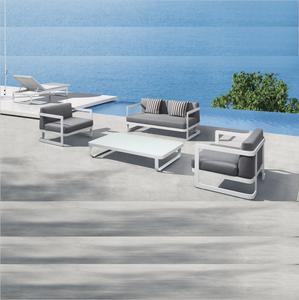 Best Selling Great Modern designs aluminum sofa garden hotel furniture patio sofa Indoor and Outdoor
