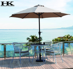 Dining chair and table Rattan chair and table Dining set with umbrella Outdoor Furniture Garden Pati