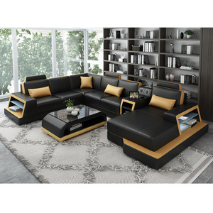 2019 New Design Top Quality Sofa Furniture Living Room Leather Combination Sofa pictures & photos