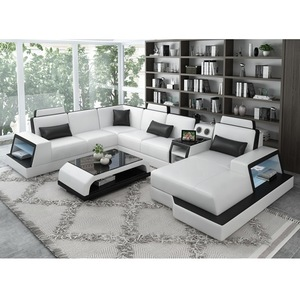 2019 New Design Top Quality Sofa Furniture Living Room Leather Combination Sofa