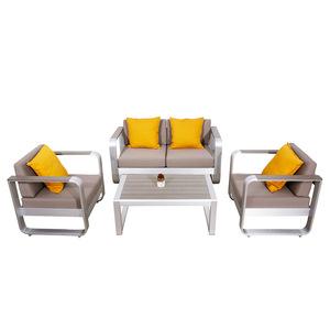 Luxury Garden Furniture Lounge Metal Aluminum Armrest Modern Outdoor Sofa Set