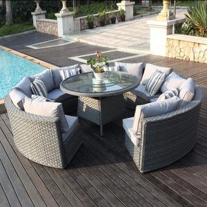 Outdoor Garden Weaving Wicker Corner Sofa Set Designs