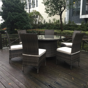 Rattan Patio Furniture 7 PCS Outdoor Dining Set pictures & photos