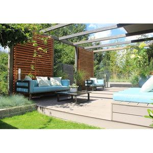Dark Grey Couch L Shaped Aluminium Patio Sofa Outdoor Furniture Sets Modular Garden Sofa pictures & photos