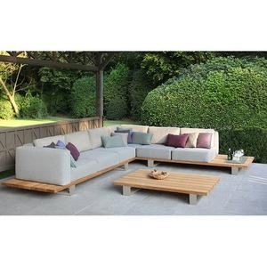 modern royal Garden hotel solid teak wood Furniture waterproof Outdoor Sofa patio metal aluminium so