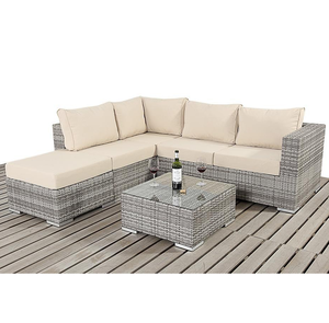 Reclining ottoman designed rattan outdoor sofa set crown leisure products patio furniture