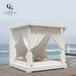 Sunbath Chair Swimming Pool Loungers Sun Bed Rattan Lounger Chair Rattan Canopy Beds