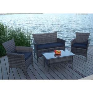 Wholesale poly rattan sofa cushion covered garden line outdoor furniture dubai patio furniture AWRF6