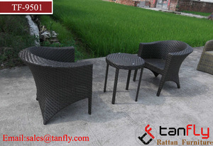 Outdoor Garden 2 Seats Rattan Patio Set Wicker Bistro Chair Dining Set pictures & photos