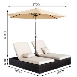 Outdoor Patio Furniture Rattan Beach Double Chaise Lounge pictures & photos