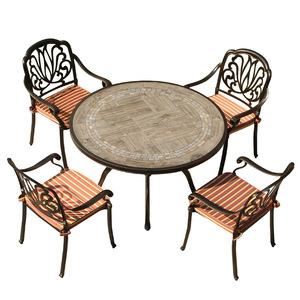 China manufacturer outdoor garden furniture dining room set modern black poly wood table