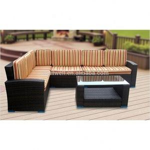 AWRF9718 STYLISH ALL WEATHER PE RATTAN OUTDOOR SOFA FROM NINGBO SUPPLIER 2020 PE rattan outdoor sofa
